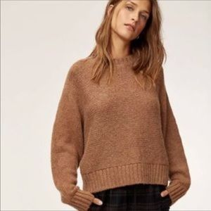 ⭐️Aritzia Babaton Day Off Sweater❤️Aplaca made, soft and warm!⭐️